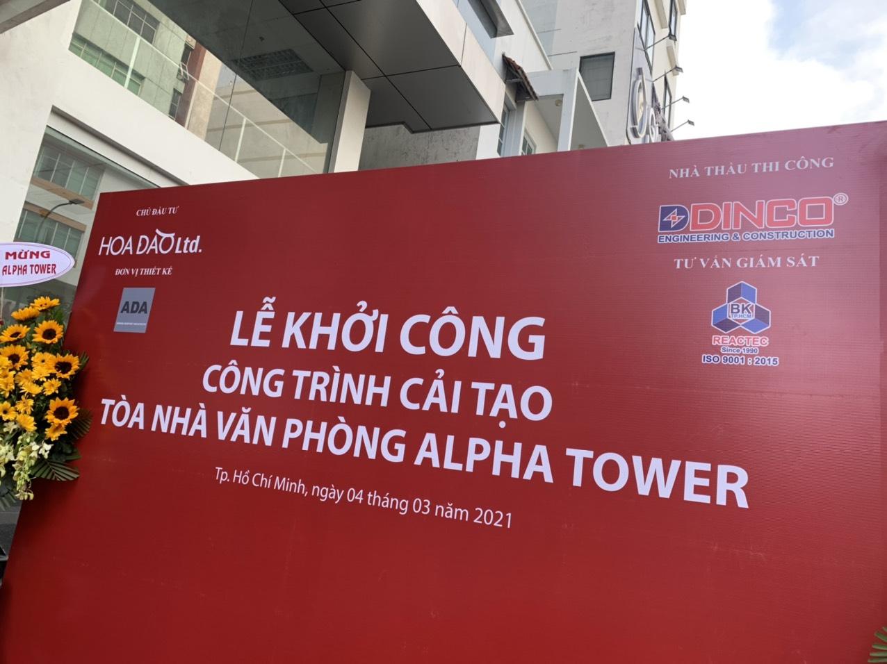 """Lễ Khởi công công trình """"Cải tạo Tòa nhà Văn phòng Alpha Tower"""""""